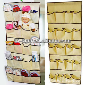 20 pocket Non-woven wall hanging shoe bag/shoes hanging pocket